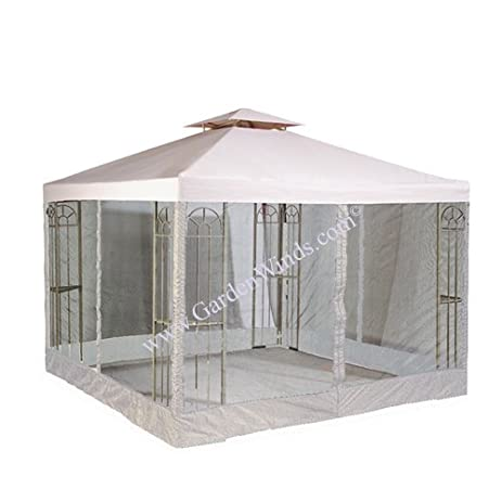 RIPLOCK Universal 10 X Two Tiered Replacement Gazebo Canopy And Mosquito Netting