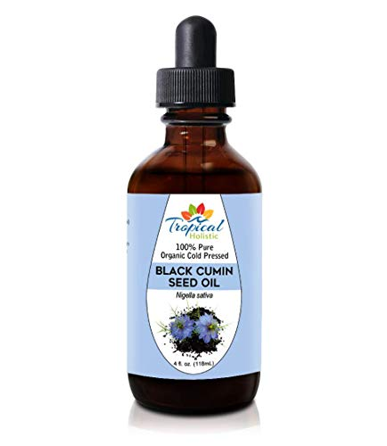 Premium Organic Black Seed Oil 4 oz - 100% Extra Virgin Pure Cold Pressed - Nigella Sativa Black Cumin Seeds - Immune System Support, Digestion, Joints, Hair Growth (Full Spectrum Black Cumin Seed)