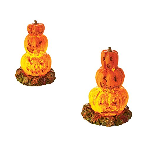 (Department 56 Halloween Village Lit Stacked Jack-O-Lanterns Lights Accessory, 2.36)