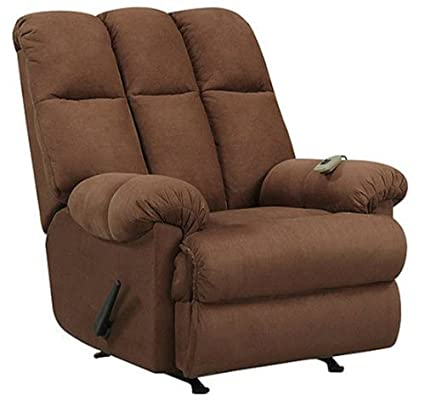 Massage Rocker Recliner Chair Microfiber Chocolate Brown Rocking Reclining  sc 1 st  Amazon.com & Amazon.com: Massage Rocker Recliner Chair Microfiber Chocolate Brown ...