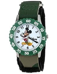 Disney Kids' W000004 Mickey Mouse Stainless Steel Time Teacher Watch