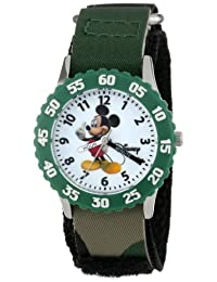 Disney Kids' W000004 Mickey Mouse Stainless Steel Time Teacher Watch
