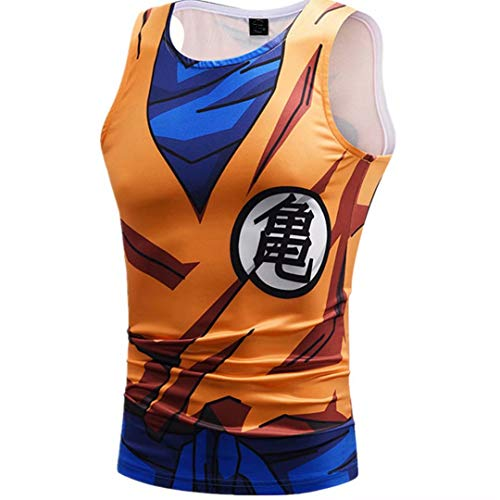 Tsyllyp Goku Vegeta Dragon Ball Z DBZ Compression T-Shirt Muscle Shirt Super Saiyan Tank -