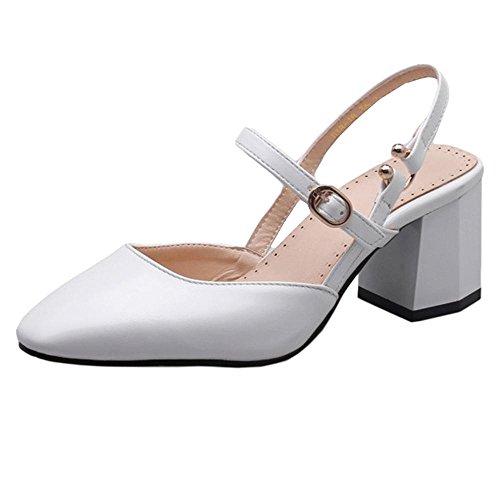 Mujer Coolcept Sandalias Toe Clip Blanco Flatform Moda 5Oqqxzrp0w
