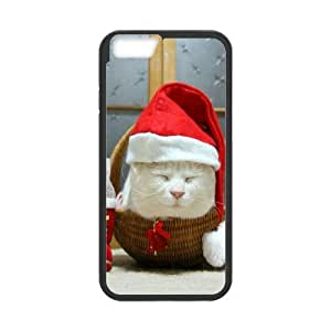 Christmas Cat iPhone 6 Plus 5.5 Inch Cell Phone Case Black Ofrvl