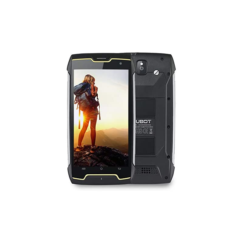CUBOT Kingkong IP68 Waterproof Rugged Cell Phones Unlocked, 3G Unlocked Smartphones, Quad Core 1.3GHz, 16GB+2GB, 5.0 inch, 4400mAh Battery, Android 7.0, Dual SIM, Dust/Scratch Proof(at&T/T-Mobile)