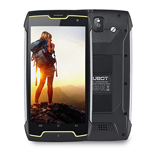 (CUBOT Kingkong IP68 Waterproof Rugged Cell Phones Unlocked, 3G Unlocked Smartphones, Quad Core 1.3GHz, 16GB+2GB, 5.0 inch, 4400mAh Battery, Android 7.0, Dual SIM, Dust/Scratch Proof(at&T/T-Mobile))