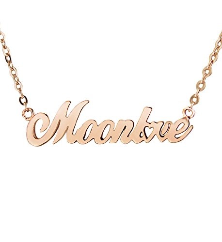 Custom Name Necklace 18K Gold Plated Personalized NecklacesValentines Xmas Brithday Mother's Day Gift w/ Box