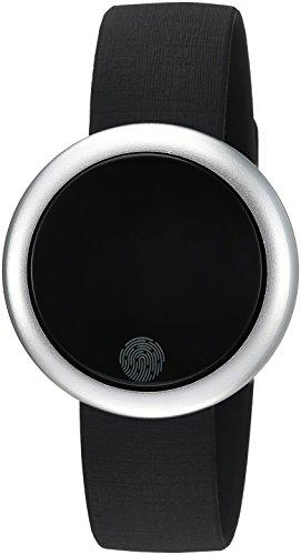 Emotion Unisex Metal and Rubber Smartwatch, Color: Silver-Tone, Black (Model: FMDEM004) by eMotion