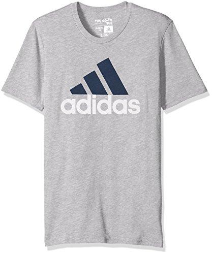 adidas Big Boys' Logo Short-Sleeve T-Shirt, MGH/Collegiate Navy, X-Large/18
