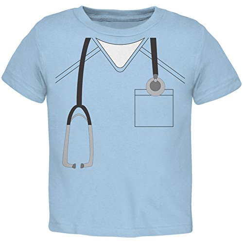 Halloween Doctor Scrubs Costume Light Blue Toddler T-Shirt - 2T (Halloween Doctors)