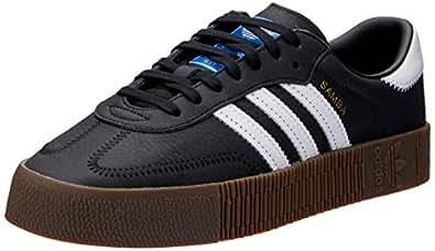 Adidas, Sambarose Trainers, Women's Shoes, Black/White/Gum, 5 US