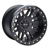 4/156 Method Race Wheels 406 Beadlock Wheel 15x10 5.0 + 5.0 Matte Black for Polaris RANGER RZR XP 4 900 2012-2014