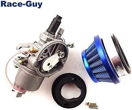 cuatriciclo carburador 47 cc 49 cc Go Kart 4 ruedas Filtro de aire de 44 mm mini moto pila para 2 tiempos