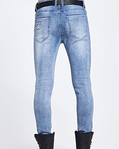 Pantaloni Marea Moto Maschile K15 Strappati Suncaya Di Jeans Uomo Marca 1xvtn7TI