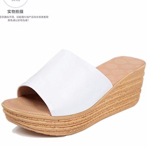 Sandali e pantofole donna pantofole dal white da da spesso flip casual sandali e donna fondo rr71gBC