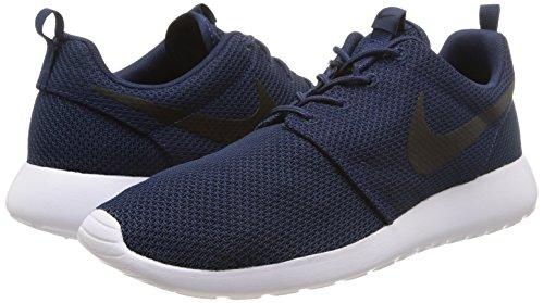Bleu Nike marine Course De Blanc Chaussures Pour Noir Homme Rosherun Minuit Rxqwq6TrYn