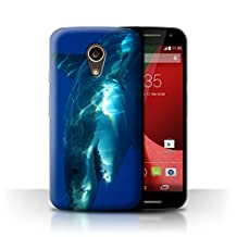 STUFF4 Phone Case / Cover for Motorola Moto G 4G 2015 / Great White Shark Design / Marine Wildlife Collection