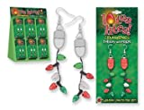 Lotsa Lites Holiday Flashing Light Bulbs Earrings