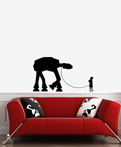 Yadda-Yadda Design Co. Boy Walking Robot - Wall Vinyl Decal (36