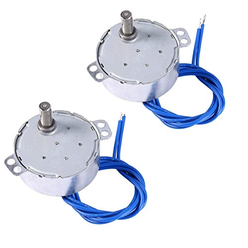 2PCS Synchronous Synchron Motor 50/60Hz AC 100~127V 4W 5-6RPM/MIN CCW/CW For Hand-Made, School Project, Model or Guide Motor (5-6RPM)