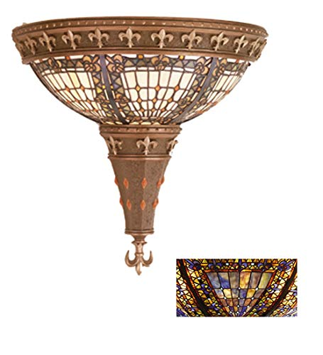 (Meyda Tiffany 19819 Stained Glass / Tiffany Two Light 17