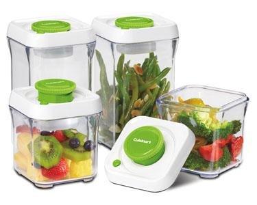 Cuisinart Fresh Edge Patented Vacuum-Seal Food Storage System