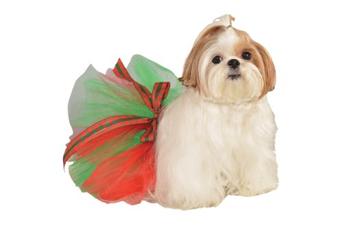 Rubie's Christmas Pet Tutu, Red/Green, (Dog Christmas Tutu)