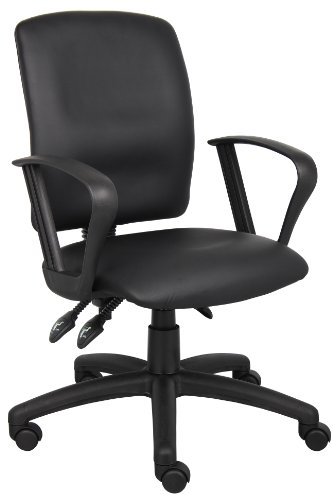 boss-office-products-b3047-multi-function-leatherplus-task-chair-with-loop-arms-in-black