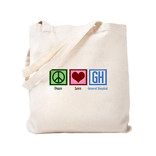 CafePress General Hospital Natural Canvas Tote Bag, Cloth Shopping Bag