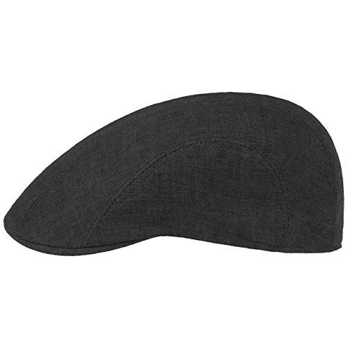 Stetson Madison Linen Flat Cap Women/Men Brown 7 ()