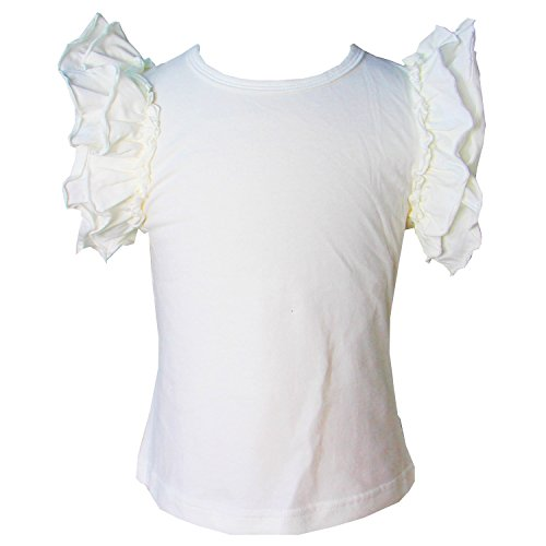 Ivory Flutter Sleeve Top - Kirei Sui Girls Classic Flutter Tanks 4T Cream
