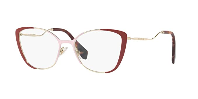 d23d882230ef Image Unavailable. Image not available for. Color: Miu Miu MU 51QV - VYG1O1  Eyeglasses ...