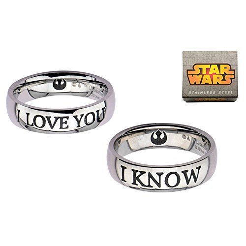 Official Star Wars I Love YOU and I Know Couple Ring Set - Boxed