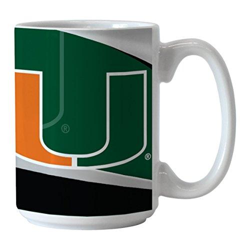 Hurricanes Coffee Mug (NCAA Miami Hurricanes Sublimated Wave Mug, 15-ounce)