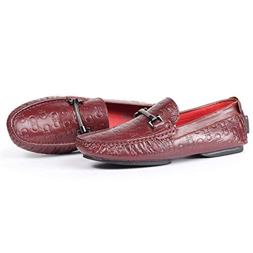 Heren Klassieke Casual Loafers - Mocassins Met Zachte Slip Op Schoenen Ch204-5 Bruin