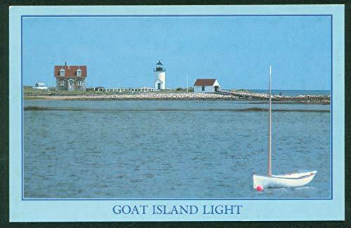 (Goat Island Light Cape Porpoise Harbor Maine Lighthouse Postcard)
