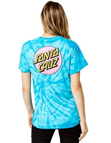(Santa Cruz Other Dot Tie Dye Tee, Blue Combo, Small)
