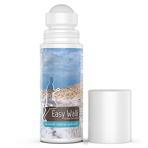 Easy Walk Roll On Jock Itch Treatment - All Natural Dead Sea Minerals Anti Fungal Formula, Instantly Relieves and Soothes Itching, Burning and Irritated Skin - Eliminates Odors, Keeps You Dry