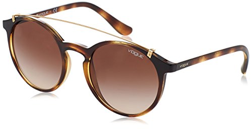 VOGUE Women's Injected Woman Round Sunglasses, Dark Havana, 51 - Sunglasses Vogue In