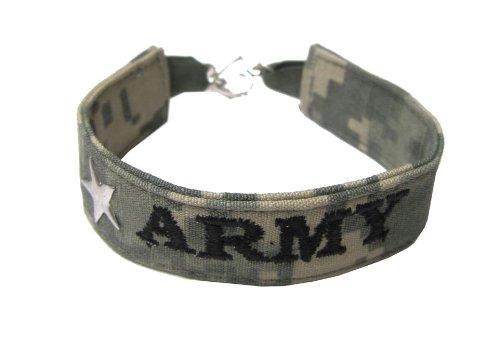 Army Name Tape Military Bracelet, Army Camo Bracelet, Army Jewelry, Army Gifts by Military Apparel Company (Image #1)