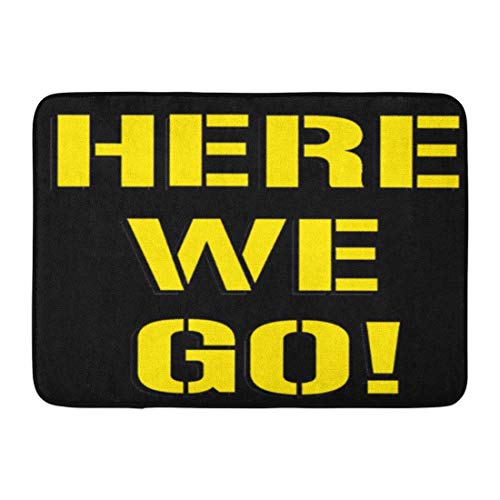 Bath Mat Pittsburgh Here We Go Steelers Football Bathroom Decor Rug