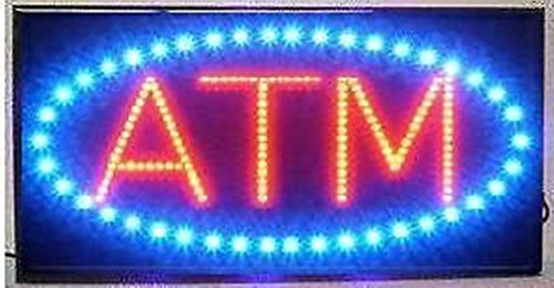 Atm Sign Led - LED Neon Light Open Sign With Animation On/off and Power On/Off two Switchs for Business By