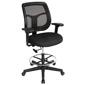 Apollo Mesh Back Drafting Stool