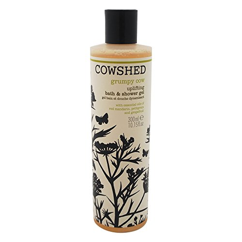 Cowshed Grumpy Cow Uplifting Bath & Shower Gel for Unisex, 10.15 Ounce