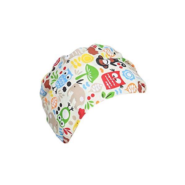 TENDYCOCO 1 Unid Algodón Mono Búho Correa Impresa Sombrero de Trabajo Quirófano Gorro Médico Gorro de Enfermera Sombrero… 6