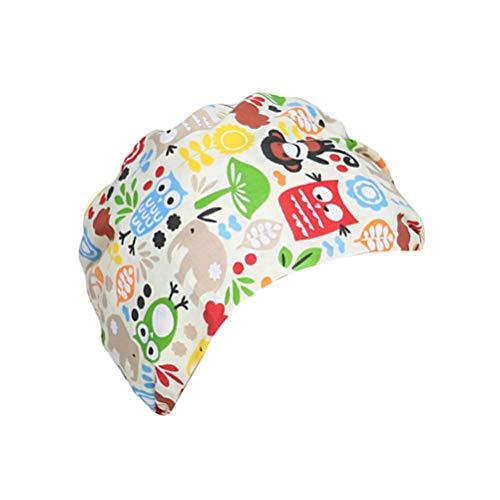 TENDYCOCO 1 Unid Algodón Mono Búho Correa Impresa Sombrero de Trabajo Quirófano Gorro Médico Gorro de Enfermera Sombrero para Médico Y Enfermera 5