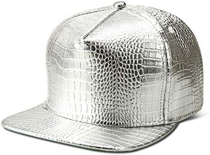 WYKDA Vogue PU Gorras de béisbol de Cuero Diamante de Oro ...