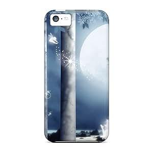 New Premium Flip Case Cover Beauty Of Light Skin Case For Iphone 5c