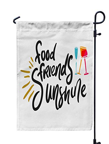 Shorping Lake Garden Flag, 12x18Inch Food Friends Sunshine Your Design Cafe Menu Bar Poster for Holiday and Seasonal Double-Sided Printing Yards Flags -